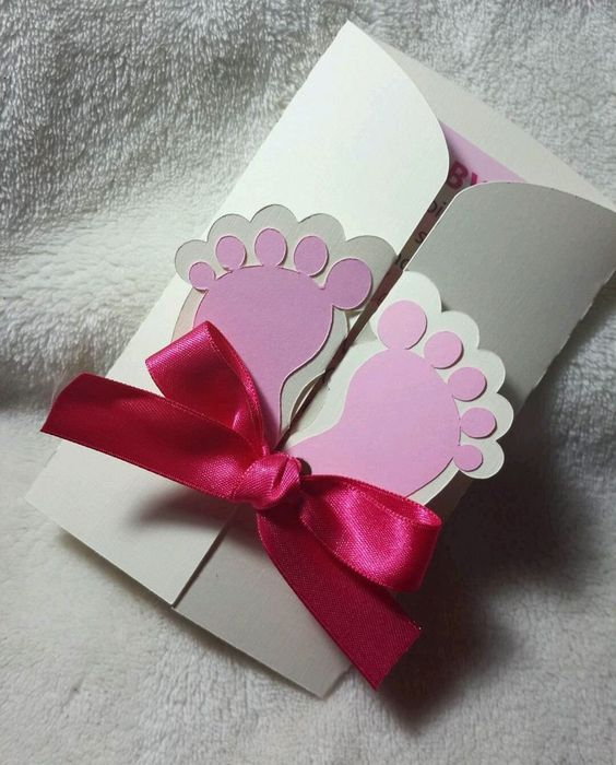 22 INVITACIONES BABY SHOWER DOBLADAS