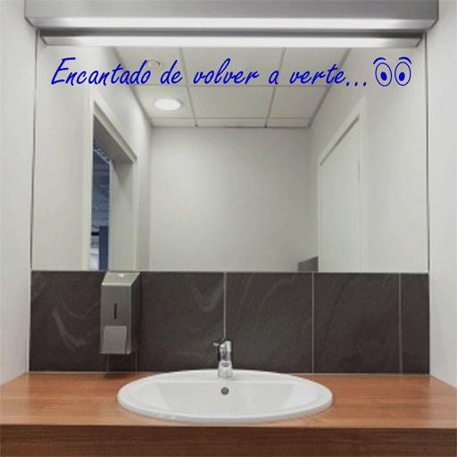 Los m s lindos vinilos para ba os que no puedes perderte for Espejo pared completa