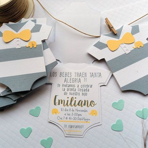 24 INVITACIONES BABY SHOWER DIY