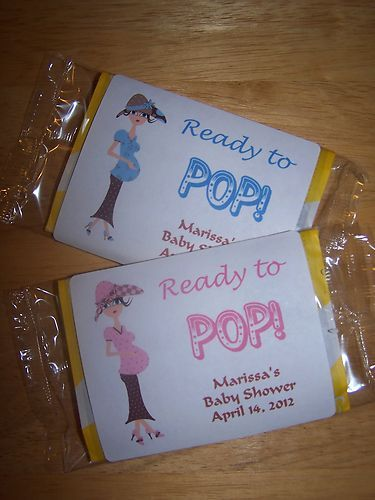 31 INVITACIONES BABY SHOWER PALOMITAS DE MAIZ
