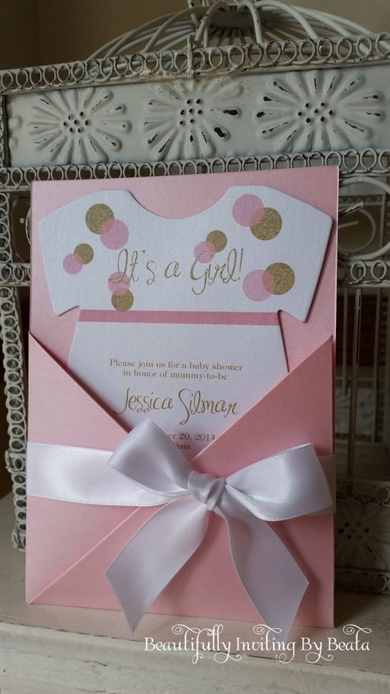 34 INVITACIONES BABY SHOWER PARA NIÑAS