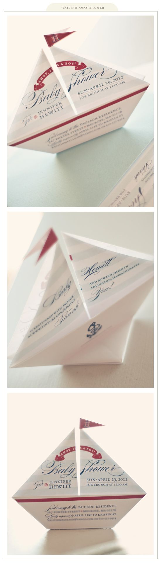 62 INVITACIONES BABY SHOWER ORIGAMI