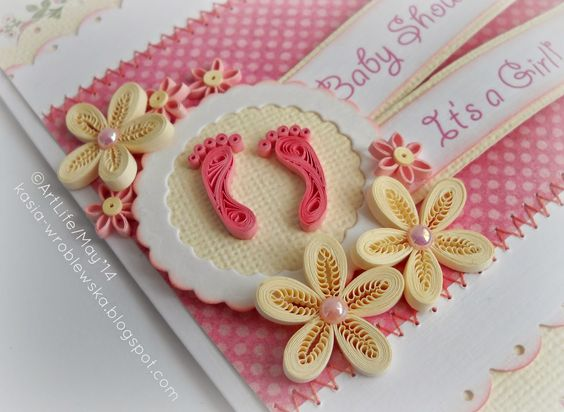 66 INVITACIONES BABY SHOWER QUILLING