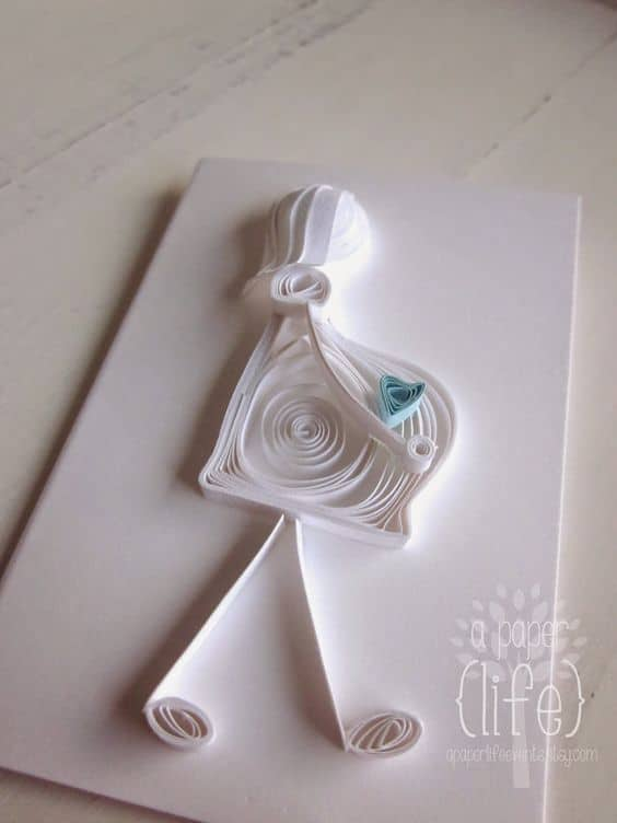 67 INVITACIONES BABY SHOWER QUILLING