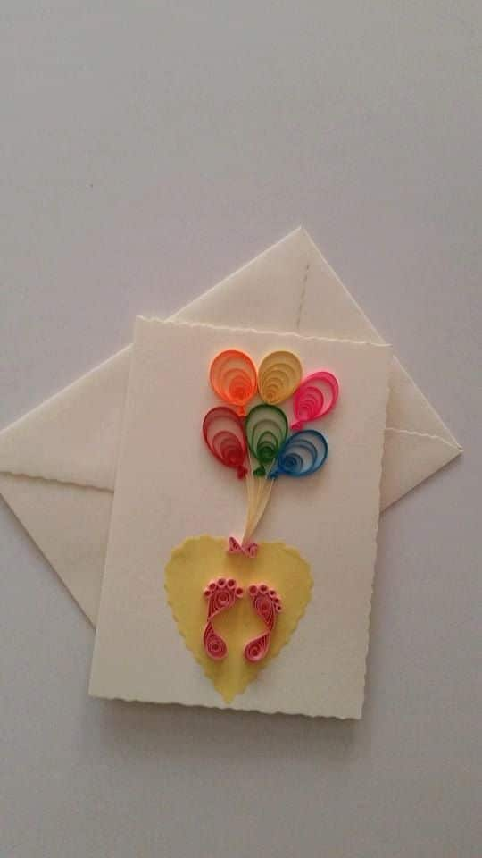 68 INVITACIONES BABY SHOWER QUILLING