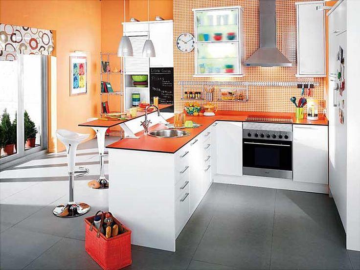 Cocinas Con Paredes Pintadas. Stunning Pintar Una Cocina Amarillo ...