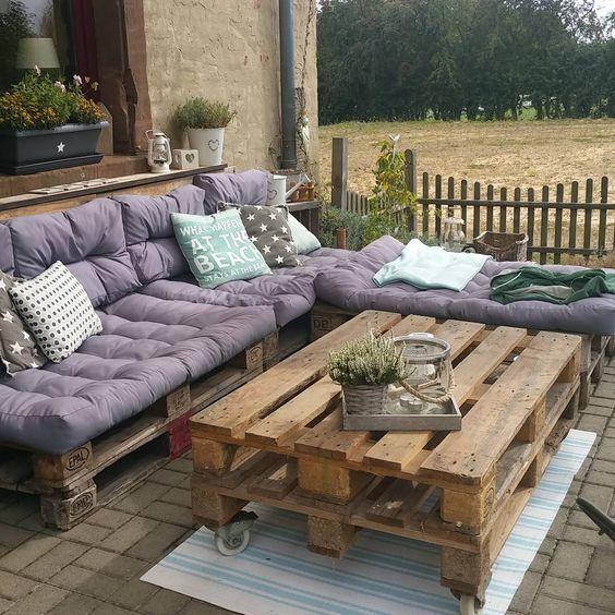 m s de 30 ideas de decoraci n con palets de madera On muebles de patio en palet