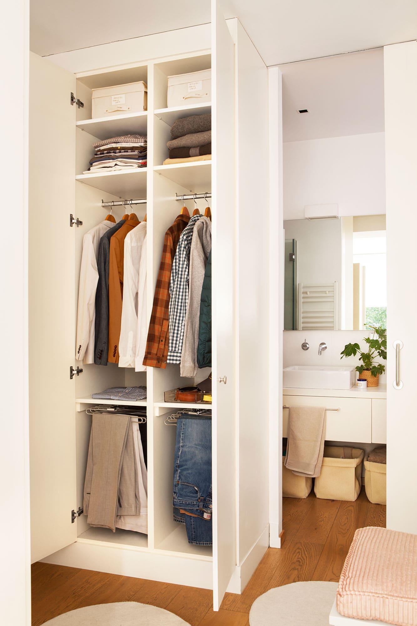 armario de vestir estrecho