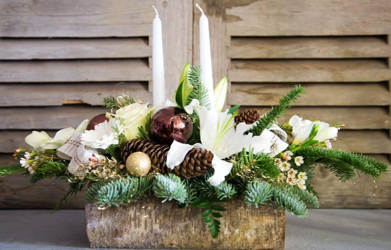 centros-de-mesa-navidad-rustica-pino-pina-decoraideas