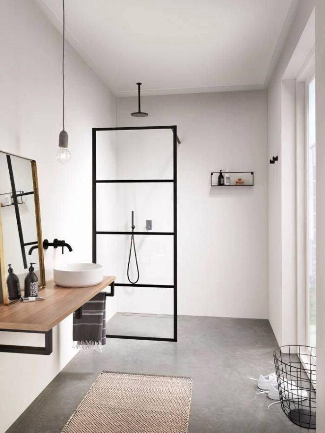 Este baño combina modernidad e inspiración industrial