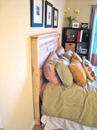 Un cabecero hecho a medida con madera de palet