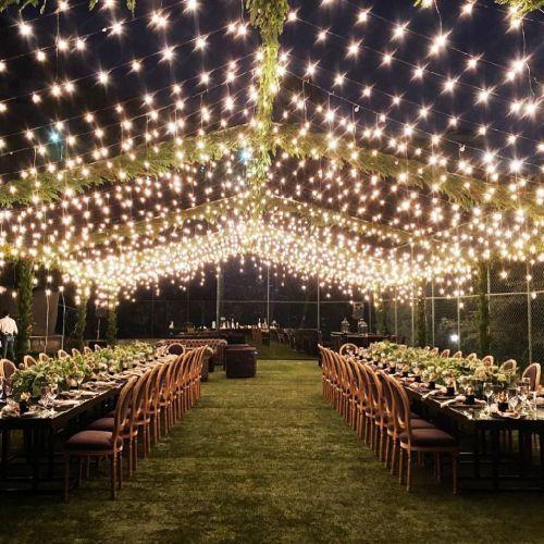 Luces para cena al aire libre