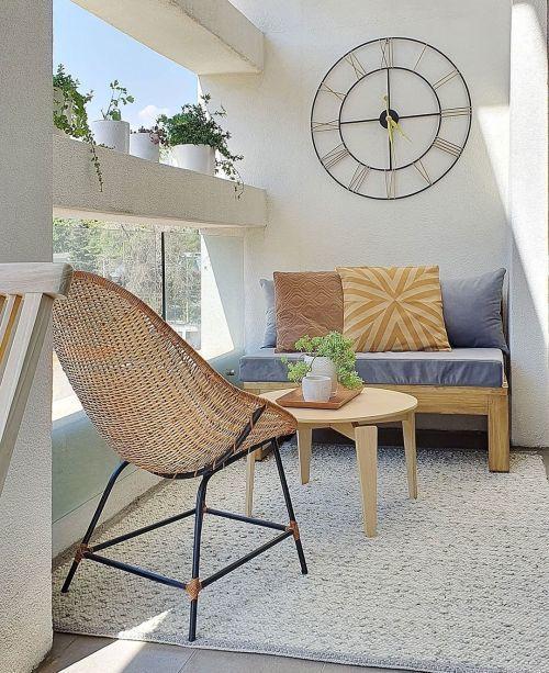 Pared blanca terraza