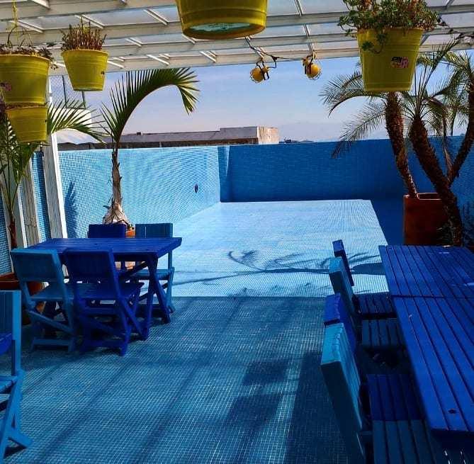 Terraza azul